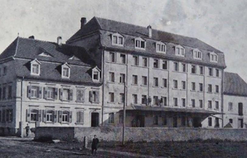 The Heck-Mühle in Gondelsheim around 1910
