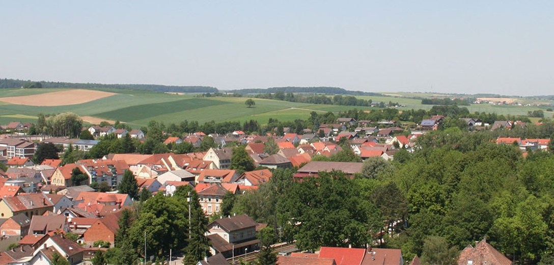 Ausblick über Gondelsheim, Blick in die Ferne...